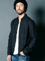 THE TWENTY SEVEN : COTTON LINEN GAUZE STANDARD SHIRTS L/S