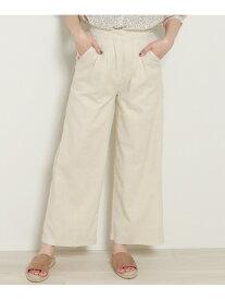 【SALE/70%OFF】frames RAY CASSIN 綿麻ワイドパンツ レイカズン パンツ/ジーンズ フルレングス ブルー カーキ ベージュ ホワイト
