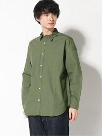【SALE/51%OFF】RAGEBLUE (M)タイプライタービックシャツ レイジブルー シャツ/ブラウス 長袖シャツ グリーン ブラウン ホワイト