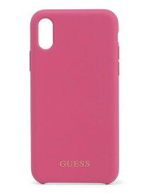 【SALE/70%OFF】GUESS (U)GOLD LOGO SILICONE CASE iPhoneX/XS ゲス ファッショングッズ 携帯ケース/アクセサリー パープル