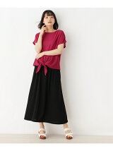 リップルプルオーバー+ロングスカート