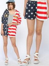 ANAPANAPロゴアメリカンフラッグショートパンツ