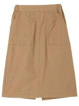 綿ツイルセミタイトスカート