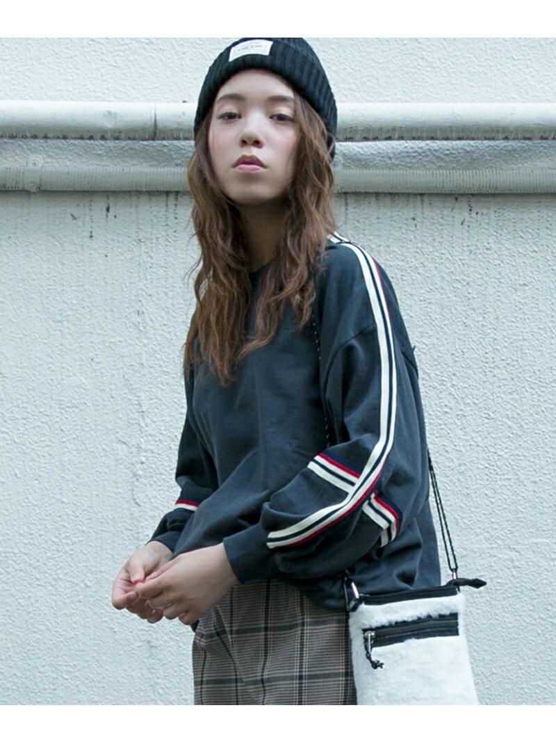 OZOC 太ラインスリーブ裏毛プルオーバー オゾック カットソー【送料無料】