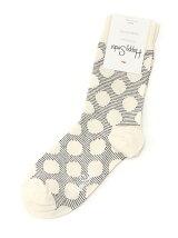 (W)【WEB店限定】【Happy Sock】ビッグドット