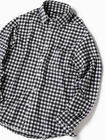 SHIPS SC:フェザーギンガムチェックボタンダウンネルシャツ19FW シップス シャツ/ブラウス 長袖シャツ ネイビー ブラック ベージュ ブルー【送料無料】