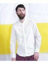 フレンチリネンバンドカラーシャツ L/S