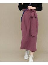 KBF+ ウエストリボンラップスカート