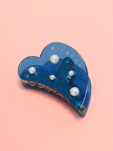 CLEAR HEART HAIR CLIP