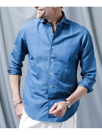 【SALE/50%OFF】nano LIBRARY //インディゴバイオプロティンシャツ ナノユニバース シャツ/ブラウス シャツ/ブラウスその他 ブルー ネイビー【送料無料】