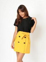 ボタンデザイン台形スカート