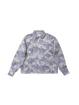 (M)forest wallpaper JQ zip up shirt