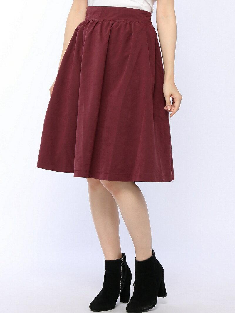 無地×柄リバーシブルスカート オリーブ・デ・オリーブ