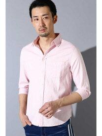 【SALE/50%OFF】TORNADO MART BLUE TORNADO∴C/Lストレッチ7スリーブシャツ トルネードマート シャツ/ブラウス 半袖シャツ ピンク ホワイト ブルー オレンジ