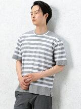 CM ポンチボーダー クルーネック 5SL Tシャツ