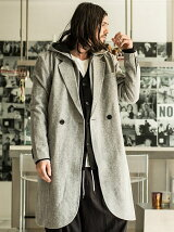 Hooded chester coat