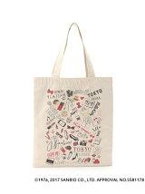 TOKYOOTONAKITTY キャンバスイラストトートバッグ