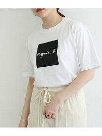 ADAM ET ROPE' 【agnes b. pour ADAM ET ROPE'】T-SHIRTS SERIGRAPHIE アダムエロペ カットソー カットソーその他 ホワイト ブラック【送料無料】
