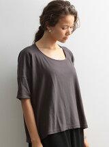 カリフォルニアコットン 変形コクーンTeeシャツ