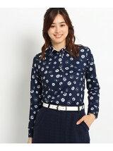 ボール&ロゴモチーフプリント長袖ポロシャツ
