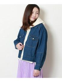 【SALE/50%OFF】frames RAY CASSIN ビック衿Gジャン レイカズン コート/ジャケット ブルゾン ブルー