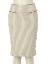 サッカーコードレーンストレッチタイトスカート