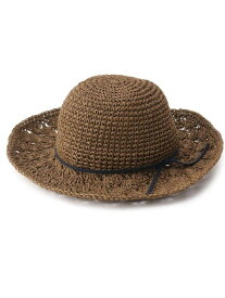 【SALE/65%OFF】SHOO・LA・RUE ペーパーリボンつきハット シューラルー 帽子/ヘア小物 ハット ブラウン ベージュ