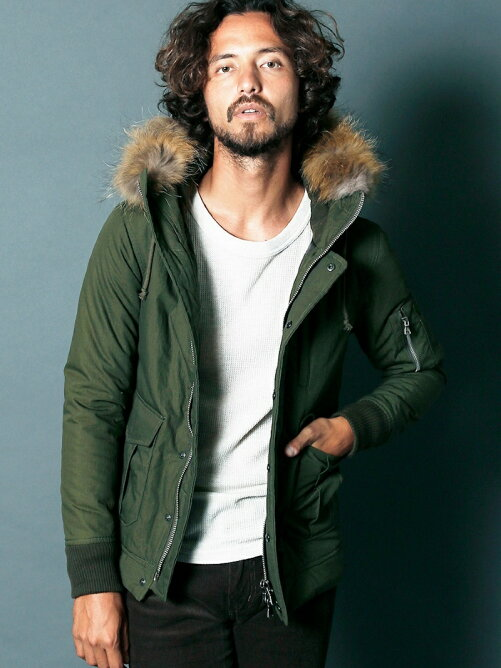 CTN/NY THINSULATE MILITARY HOOD BLOUSON