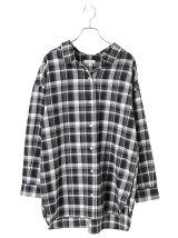 ビッグシルエットチェックシャツ