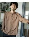 nano・universe 《WEB限定》エントリーワイドバンドカラーシャツ ナノユニバース シャツ/ブラウス シャツ/ブラウスそ…