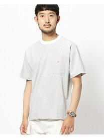 BEAMS MEN DANTON / ボーダー ポケット Tシャツ ビームス メン カットソー Tシャツ ホワイト【送料無料】