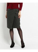 グレンチェックラップ風スカート