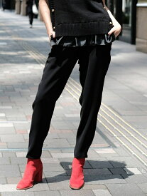 nina mew ダブルクロス パンツ ニーナミュウ パンツ/ジーンズ パンツその他 ブラック ピンク【送料無料】