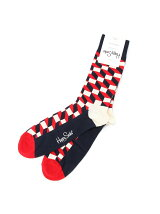 【WEB店限定】【Happy Sock(ハッピーソックス)】幾何学パターン