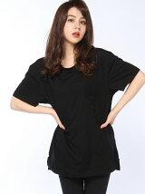 【W】ルーズフィット ポケットTシャツ
