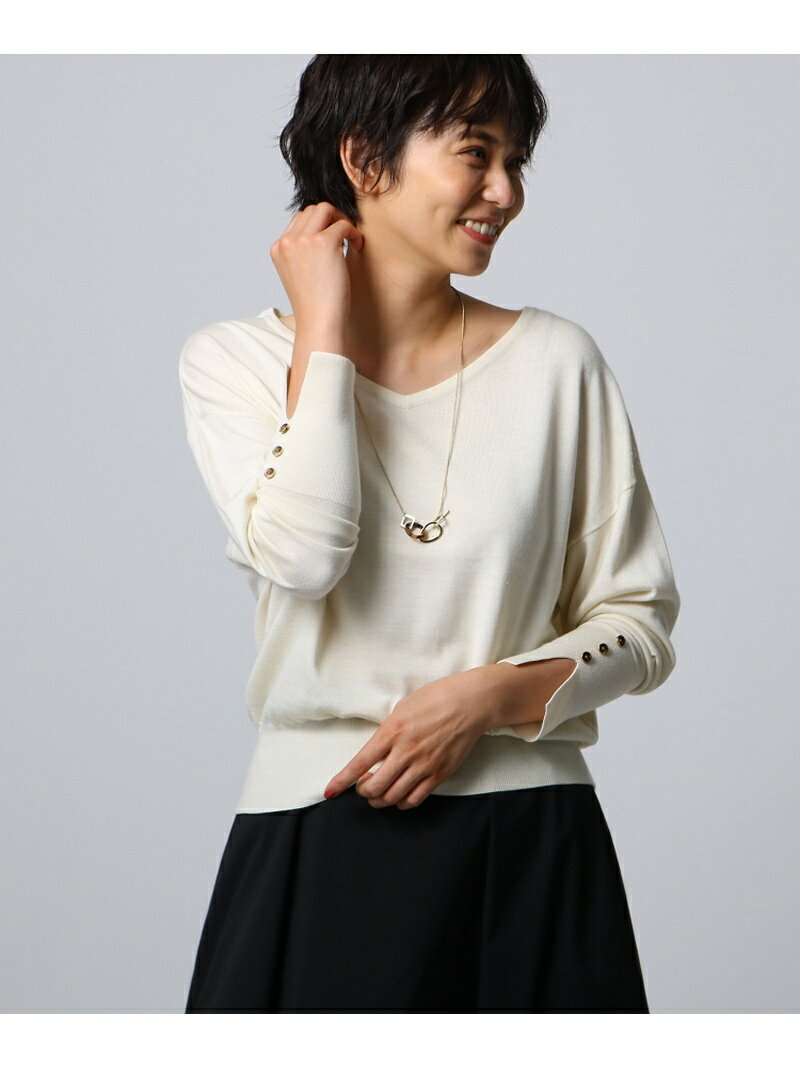UNTITLED シルクウールカシミヤVニット アンタイトル ニット【送料無料】