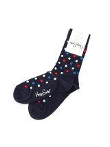 (W)【WEB店限定】【Happy Sock】ドット