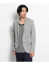 麻綿ニットジャケット