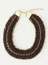三つ編みビーズ ネックレス
