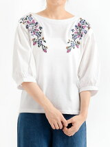 【WEB限定価格】袖ボリューム刺繍プルオーバー