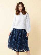 ニット刺繍フレアスカート