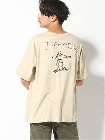 【SALE/20%OFF】THRASHER THRASHER/(U)GONZ BACK ビックシルエット Tシャツ スラッシャー バイ リフルページ カットソー Tシャツ ベージュ ブラック カーキ ホワイト