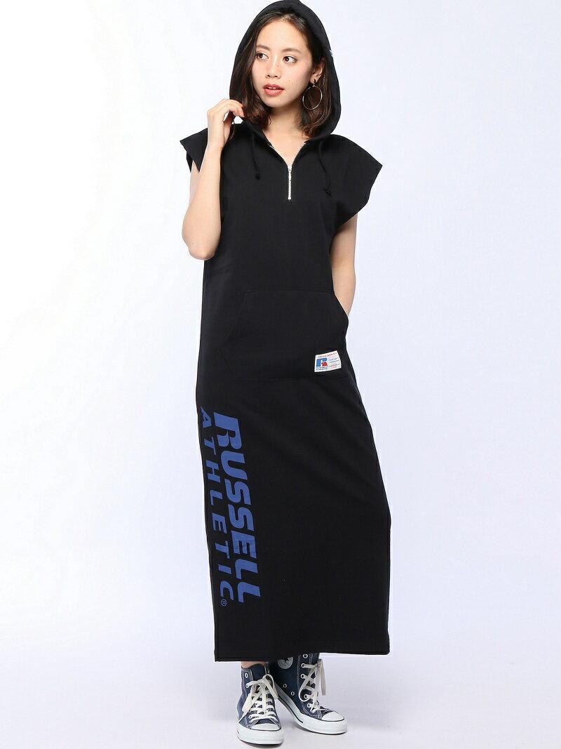 【SALE/40%OFF】X-girl X-girlxRUSSELL ATHLETIC SLEEVELESS DRESS エックスガール ワンピース【RBA_S】【RBA_E】【送料無料】