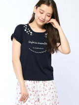 りぼん袖ロゴTシャツ