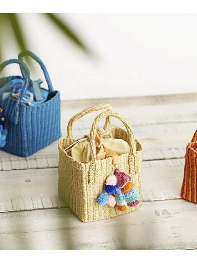 【SALE/50%OFF】Liberty Bell Pompon basket bag ナノユニバース バッグ【RBA_S】【RBA_E】【送料無料】
