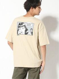 【SALE/20%OFF】THRASHER THRASHER/(U)BOYFRIEND ビックシルエット Tシャツ スラッシャー バイ リフルページ カットソー Tシャツ ベージュ ブラック カーキ ホワイト
