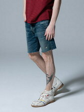 Selvage denim shorts