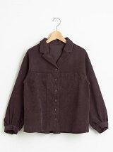 細コール羽織シャツ