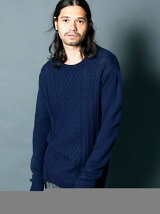WOOL NYLON CABLE KNIT