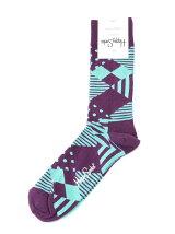 (W)【Happy Socks】ジオメトリックパターン
